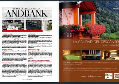 PUBLICIDAD PARA HOTELES: ANUNCIO PARA EL HOTEL XALET BRINGUÉ EN LA REVISTA DE ATLÁNTIDA VIATGES
