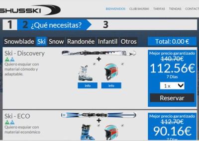 SHUSSKI: PÁGINA WEB Y SISTEMA DE ALQUILER DE ESQUÍS
